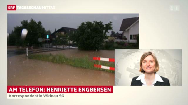Überschwemmungen in Widnau