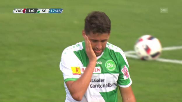 Video «Haggui verletzt sich im 1. Spiel für den FCSG» abspielen