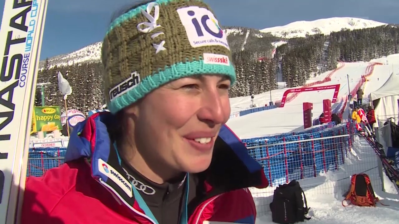 Ski Alpin: Weltcup Lake Louise, Training Abfahrt, Interview Dominique Gisin