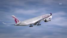 Video «Eindrucksvoller Start einer A350» abspielen