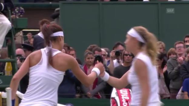 Video «Wimbledon: Wichtigste Punkte Vögele - Cirstea («sportlive»)» abspielen
