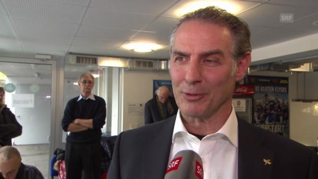 Video «Eishockey: Interview mit Felix Hollenstein» abspielen