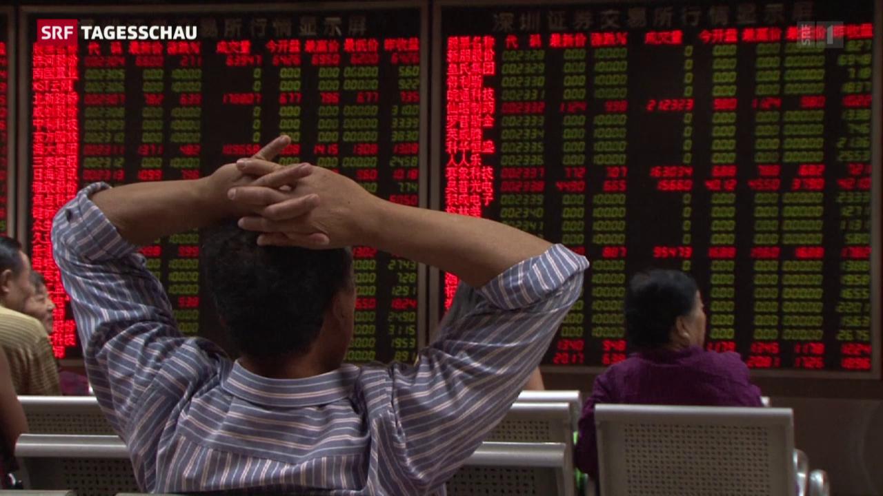 Neuer Kursrutsch an Chinas Börsen