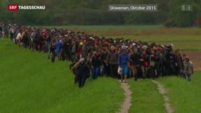 Video «Österreichs Flüchtlingsentscheid hat Domino-Effekt» abspielen