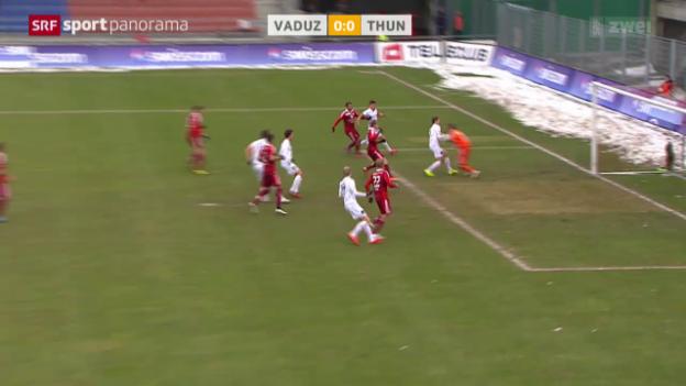 Video «Fussball: Super League, Vaduz - Thun» abspielen
