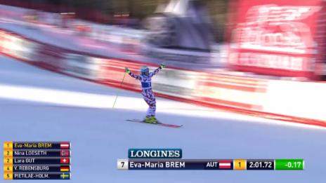 Video «Ski: Brems 2. Lauf in Courchevel» abspielen