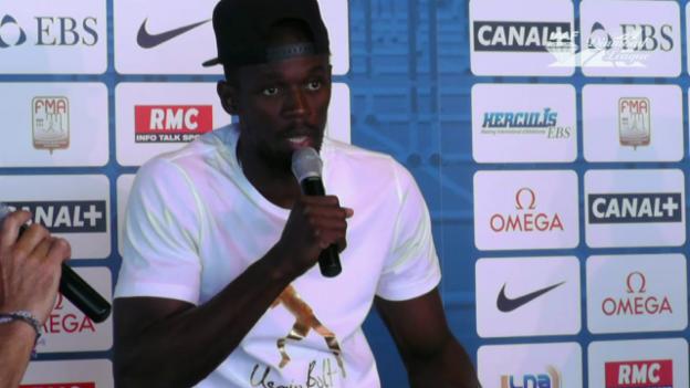 Video «Bolt: «Will meine letzten Rennen gewinnen» (engl.)» abspielen