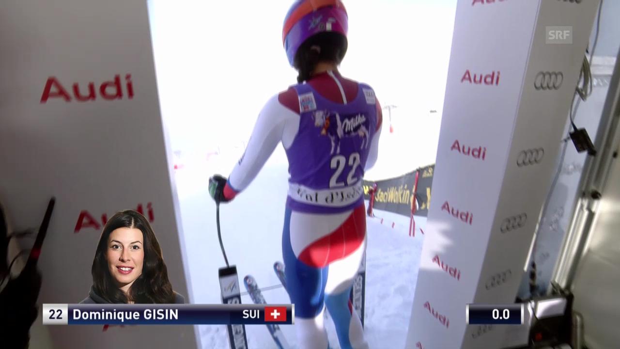 Ski: Die Fahrt von Dominique Gisin in Val d'Isere