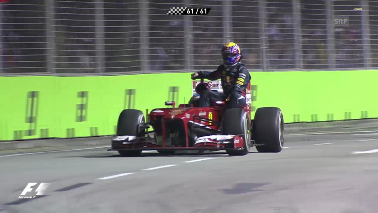 Webber wird von Alonso chauffiert