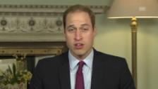 Video «Prinz Charles und Prinz William kämpfen gemeinsam gegen Wilderei» abspielen