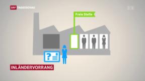 Video «Nationalratskommission schwächt Ständeratsvorschlag bei MEI ab» abspielen