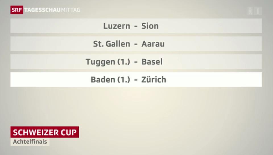 Achtelfinals des Schweizer Cups