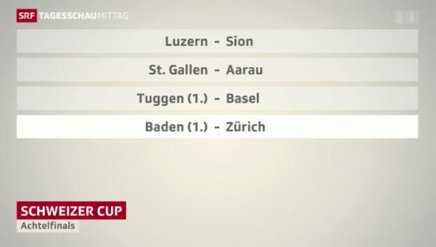 Video «Achtelfinals des Schweizer Cups» abspielen