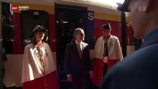 Video «Bundesrat Cassis im Tessin empfangen» abspielen