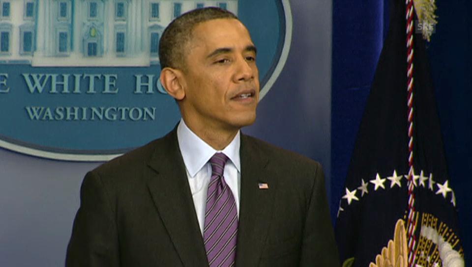 Obama: «Wir danken, dass Nelson Mandela gelebt hat» (engl.)