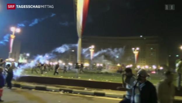 Video «Proteste in Ägypten flackern erneut auf» abspielen