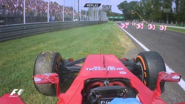 Video «Formel 1: Entscheidende Szenen GP Monza» abspielen