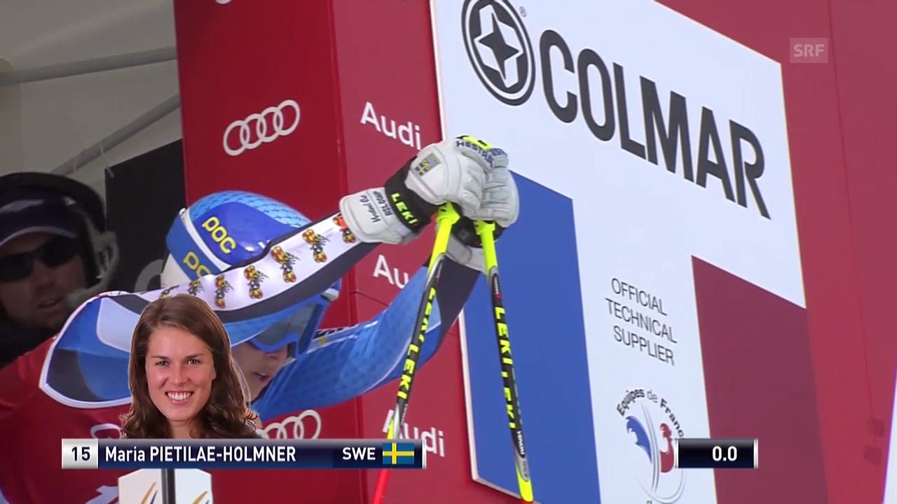 Ski: Riesenslalom Frauen Val d'Isère, 1. Lauf von Maria Pietilae-Holmner
