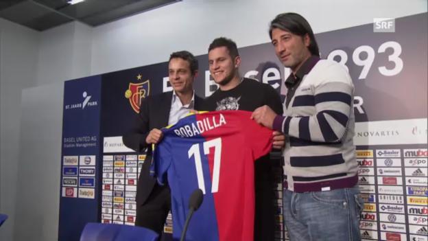 Video «Fussball: Bobadilla wechselt zu Basel» abspielen