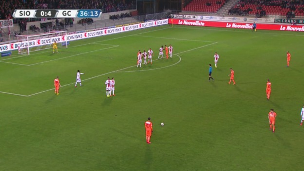 Video «Fussball: Super League, 26. Runde, Sion - GC, 0:5 Caio» abspielen