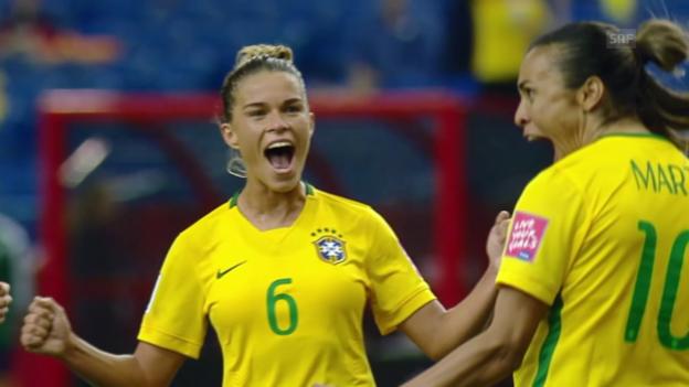 Video «Fussball: Frauen-WM 2015, Vorrunde, Brasilien - Südkorea» abspielen