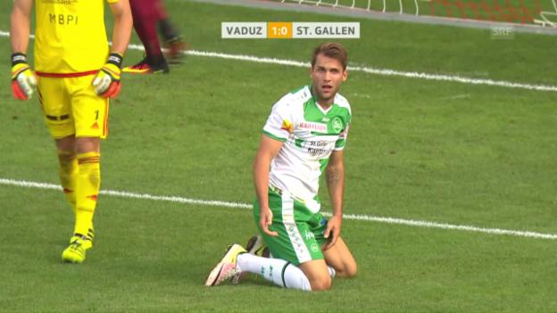 Video «St. Gallen bringt den Ball nicht rein» abspielen