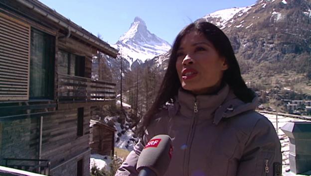 Video «Vanessa Mae: «Deutsch ist zu schwierig»» abspielen