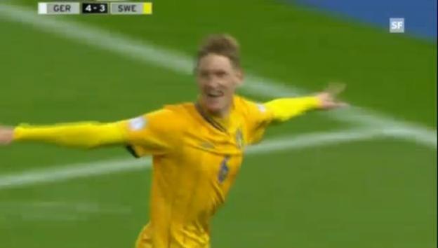 Video «WM-Qualifikation: Das spektakuläre 4:4-Remis zwischen Deutschland und Schweden» abspielen