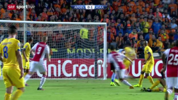 Video «Fussball: Zusammenfassung APOEL - Ajax» abspielen