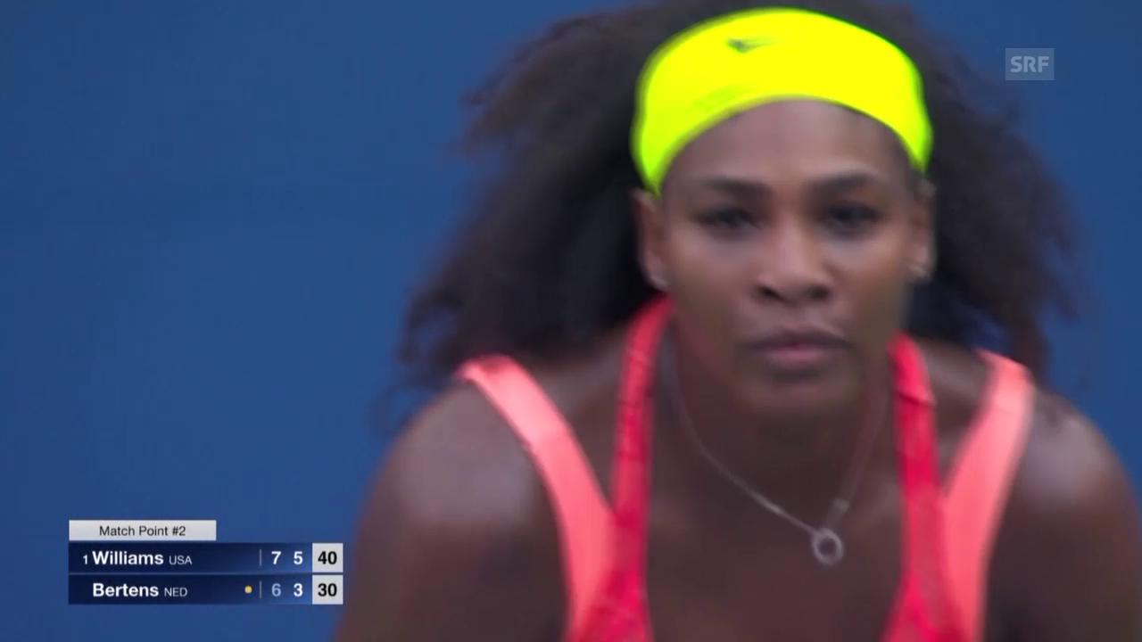 Tennis: US Open, 2. Runde, S.Williams-Bertens