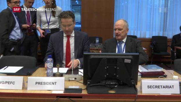 Video «EU-Finanzminister geben sich gelassen» abspielen