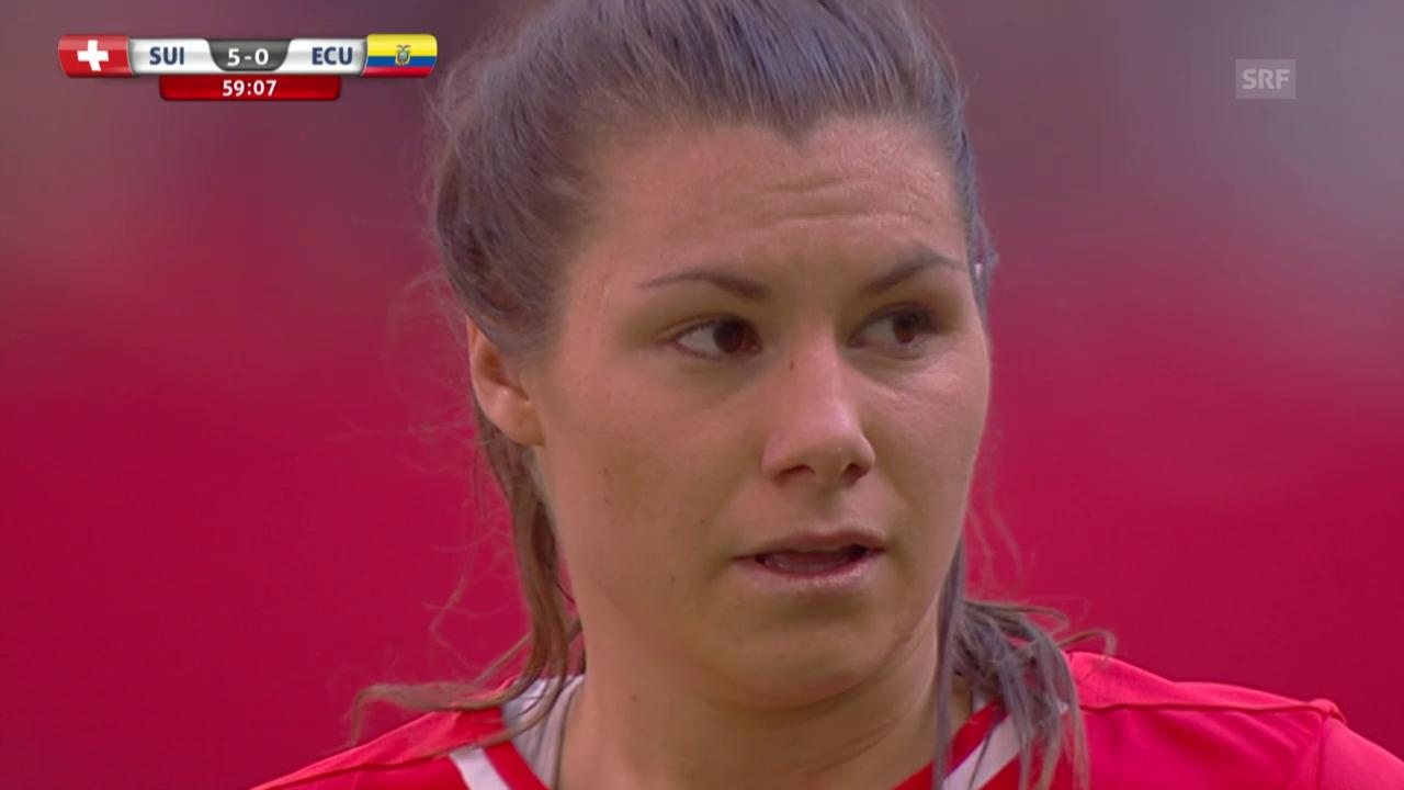 Fussball: Frauen-WM, Schweiz-Ecuador, Tore Ramona Bachmann