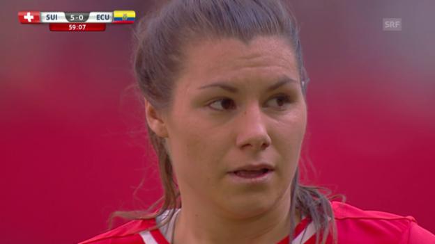 Video «Fussball: Frauen-WM, Schweiz-Ecuador, Tore Ramona Bachmann» abspielen