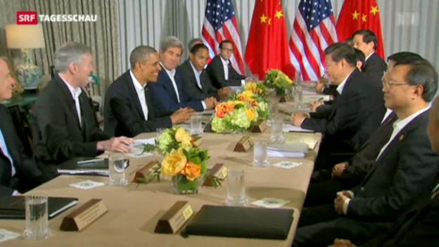 Video «Obama trifft chinesischen Präsidenten» abspielen