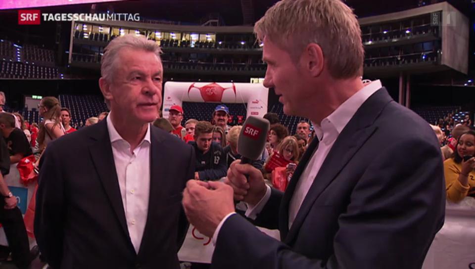 Ottmar Hitzfeld im Gespräch mit Franz Fischlin