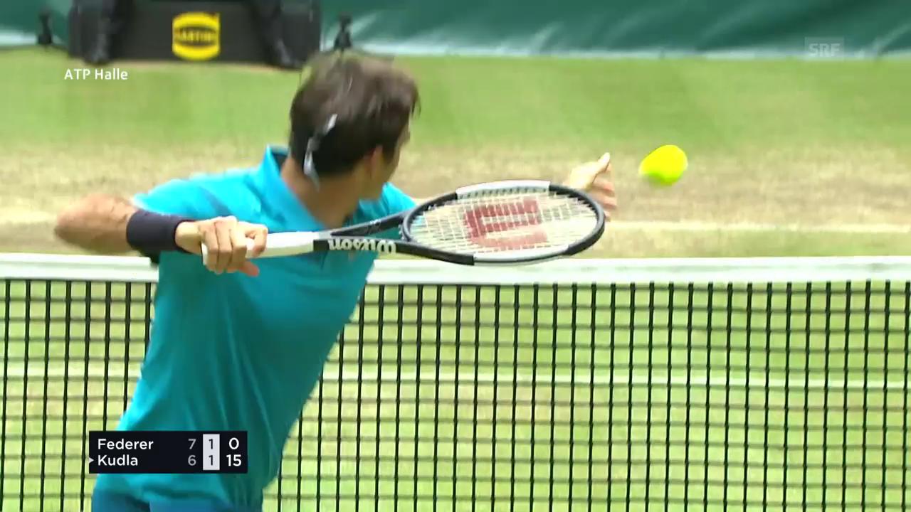 Stinkiger Federer haut den Ball aus dem Stadion