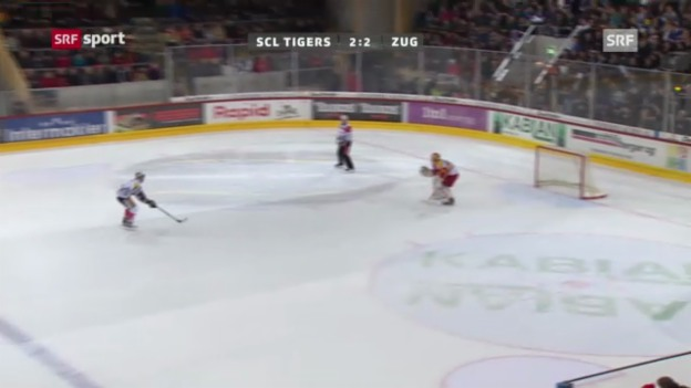 Video «NLA: SCL T. - Zug («sportaktuell»)» abspielen