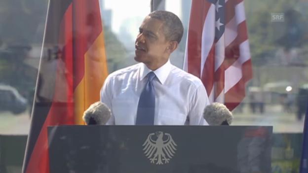Video «Die Highlights von Obamas Berliner Rede (Originalton)» abspielen