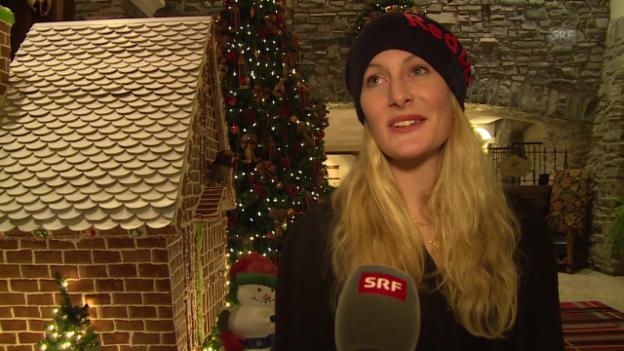 Video «Skicross: Fanny Smith zu ihren Olympia-Ambitionen (französisch)» abspielen