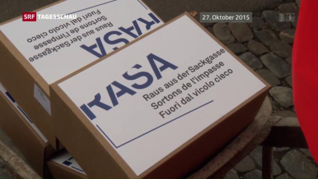 Video «Bundesrat lehnt Rasa-Initiative ab» abspielen