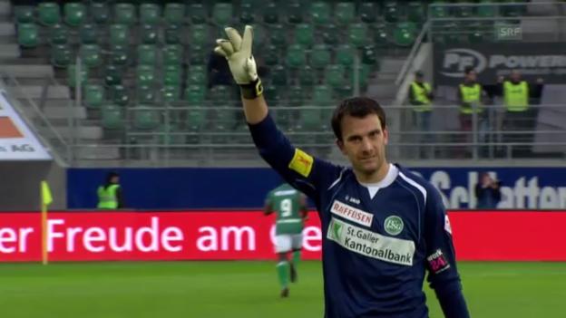 Video «Fussball: St.Gallen - Sion» abspielen