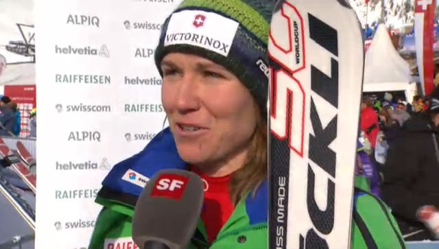 Super-G Frauen: Interview Fabienne Suter («sportlive»)