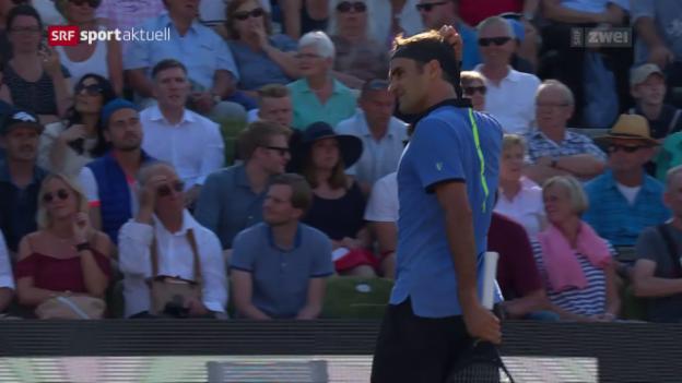 Video «Federer misslingt Comeback gegen Haas» abspielen