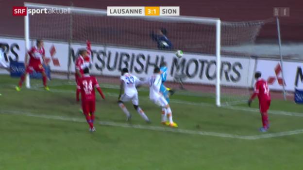 Video «Fussball: SL, Lausanne - Sion» abspielen