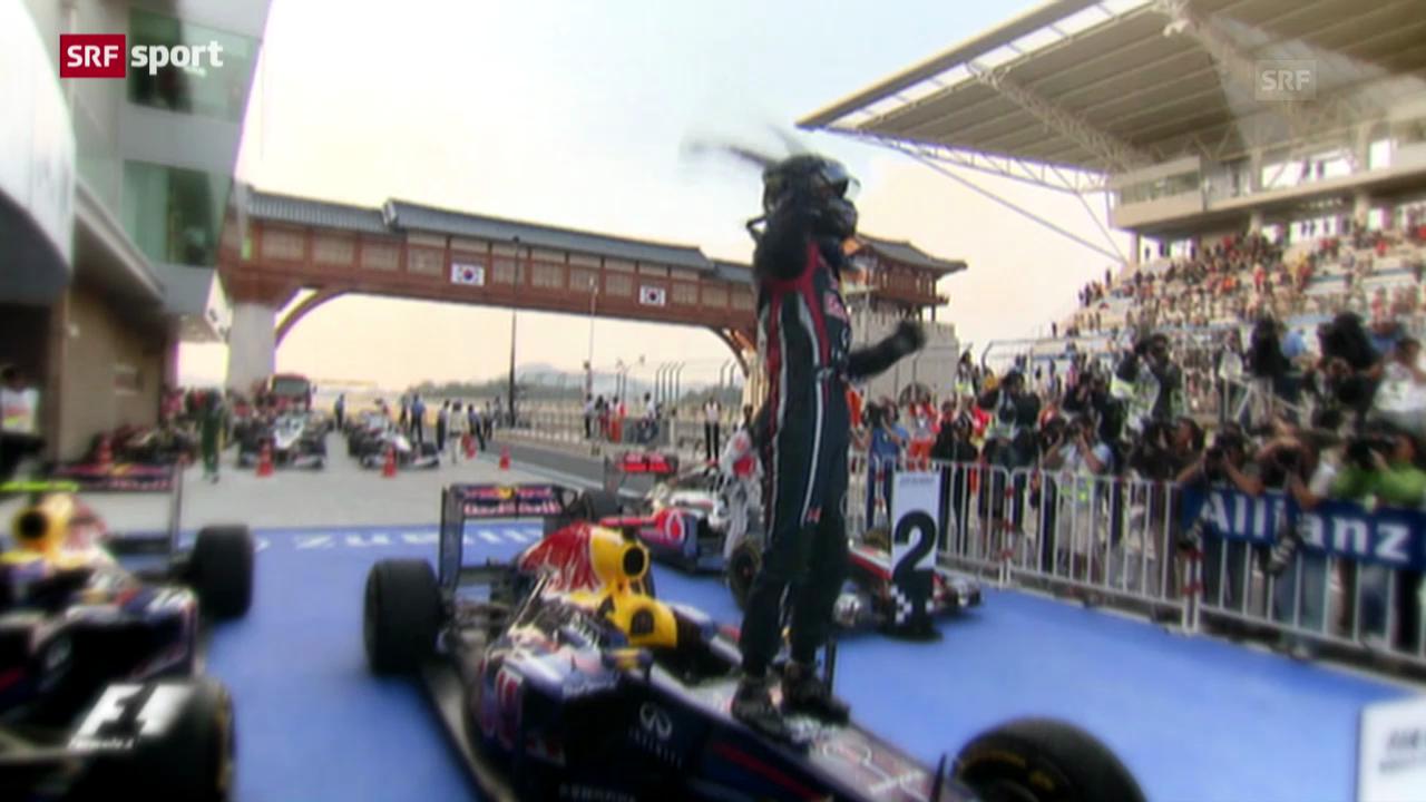 F1: Der alte und neue Weltmeister Sebastian Vettel