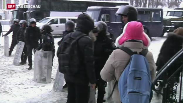 Video «Kiew: Machtkampf dauert an» abspielen