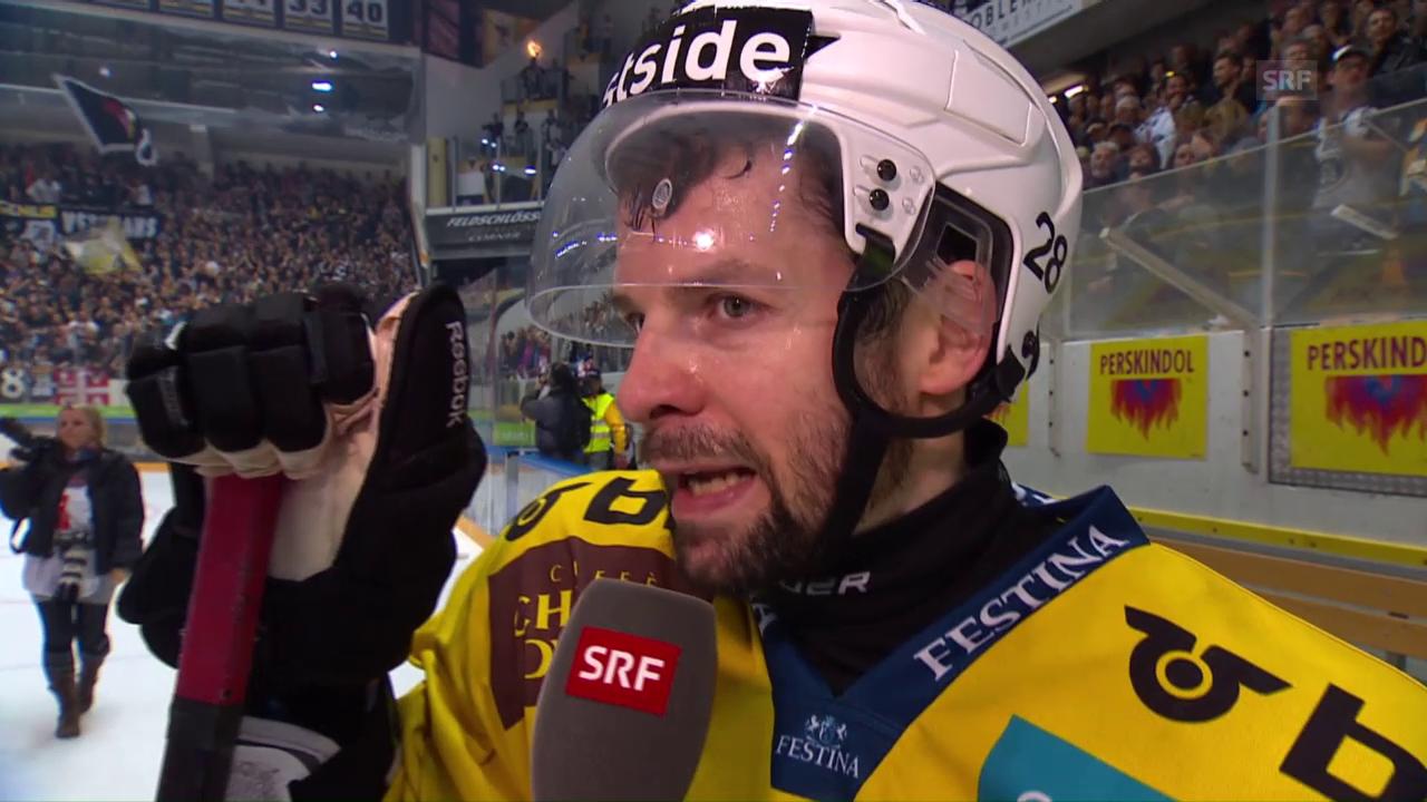 Berns Martin Plüss im Interview nach der Niederlage gegen Lugano