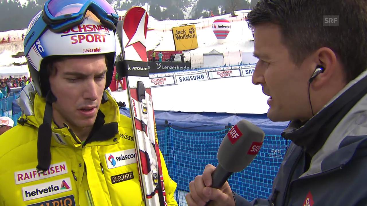 Ski: Weltcup der Männer, Riesenslalom Lenzerheide, Interview mit Carlo Janka («sportlive, 15.03.2014)