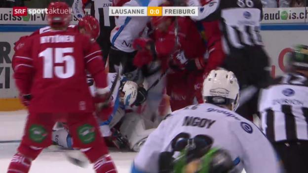 Video «Eishockey: Lausanne - Freiburg» abspielen