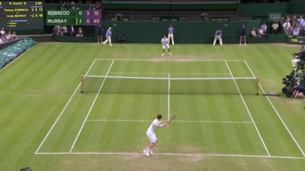 Video «Matchball Murray-Robredo («sportaktuell»)» abspielen